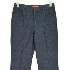 Gloria Vanderbilt Stretchy Denim Pleated Jeans